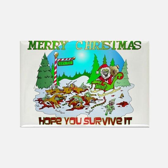 Zombie Christmas Killings Rectangle Magnet