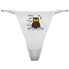 Dont Give A Hoot Classic Thong