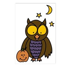 Owl And Pumpkin Postcards (Package of 8)