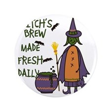 "Witchs Brew 3.5"" Button"