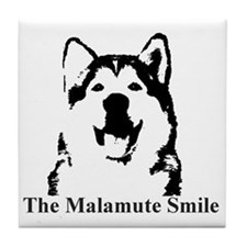 The Malamute Smile Tile Coaster