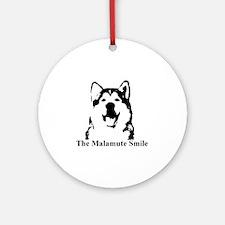 The Malamute Smile Round Ornament