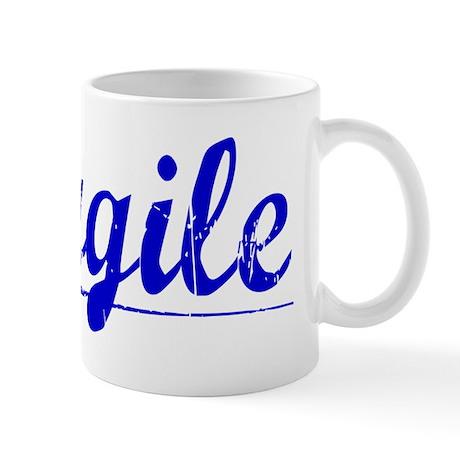 Cargile, Blue, Aged Mug
