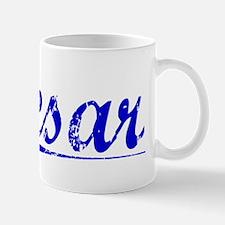 Cesar, Blue, Aged Small Small Mug