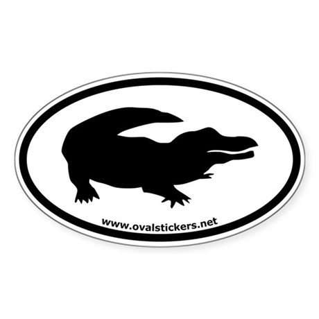 Alligator Oval Car Bumper Sticker