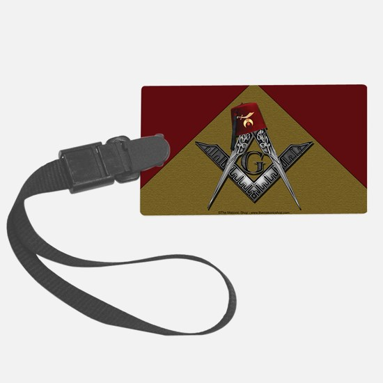Shriners pyramid Luggage Tag