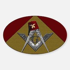 Shriners pyramid Sticker (Oval)
