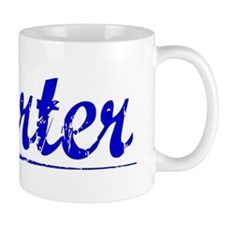 Carter, Blue, Aged Small Mug