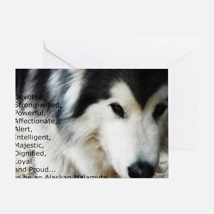 Proud to be a Malamute Greeting Card
