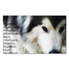 Proud to be a Malamute Decal