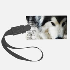 Proud to be a Malamute Luggage Tag