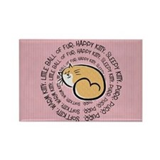 Sing Soft Kitty Rectangle Magnet