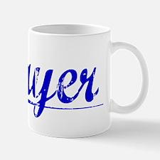 Cayer, Blue, Aged Mug