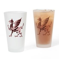 Red Dragon Drinking Glass