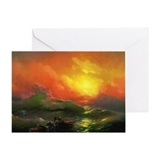 Ivan Aivazovsky The Ninth Wave Greeting Card