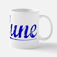 Clune, Blue, Aged Small Small Mug