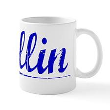 Collin, Blue, Aged Mug