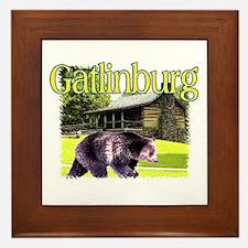 Gatlinburg Bear Framed Tile