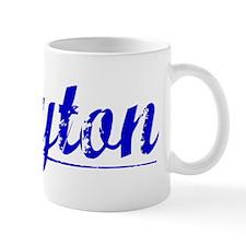 Clayton, Blue, Aged Mug
