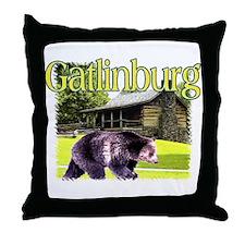 Gatlinburg Bear Throw Pillow