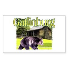 Gatlinburg Bear Rectangle Decal