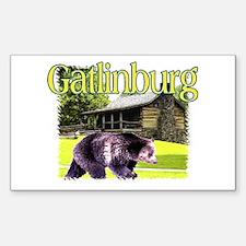 Gatlinburg Bear Rectangle Decal