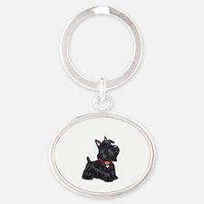 Scottish Terrier #2 Oval Keychain