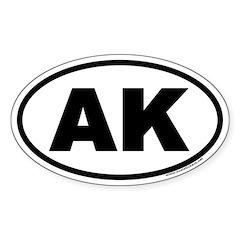Alaska AK Euro Oval Decal