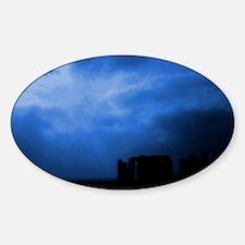 Blue Stonehenge Sticker (Oval)