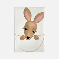 Kangaroo Pouch Rectangle Magnet