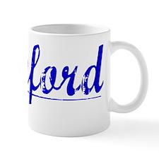 Cranford, Blue, Aged Mug