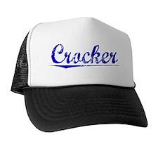 Crocker, Blue, Aged Trucker Hat