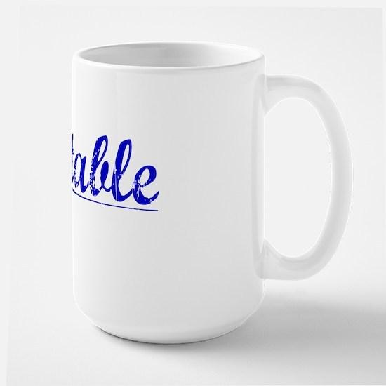 Constable, Blue, Aged Large Mug