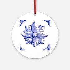 DELFT FLOWER TILE Round Ornament