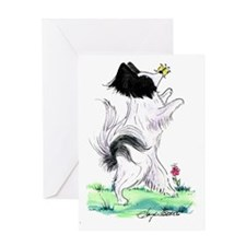 Papillon butterfly fun Greeting Card