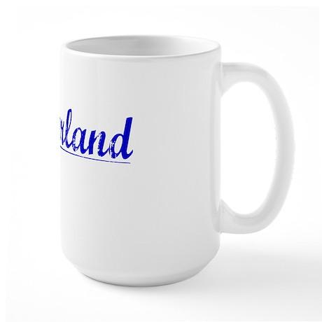 Cumberland, Blue, Aged Large Mug