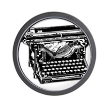 Old Fashioned Typewriter Wall Clock