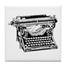 Old Fashioned Typewriter Tile Coaster