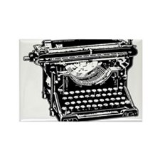 Old Fashioned Typewriter Rectangle Magnet