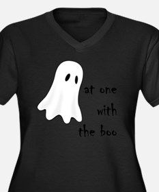 at one with  Women's Plus Size Dark V-Neck T-Shirt