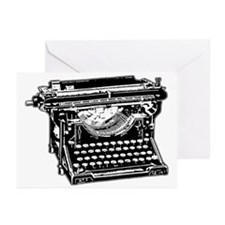 Old Fashioned Typewriter Greeting Cards (Package o