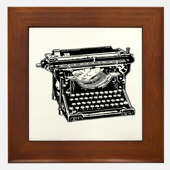 Old Fashioned Typewriter Framed Tile