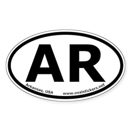 Arkansas, USA Oval Car Bumper Sticker
