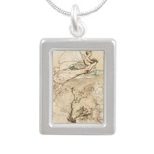 To my bower Silver Portrait Necklace