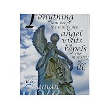 Angel Visits Throw Blanket