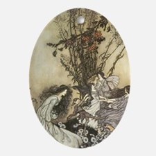 Dancing with the fairies Oval Ornament