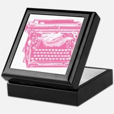 Pink Typewriter Keepsake Box