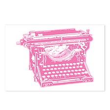 Pink Typewriter Postcards (Package of 8)