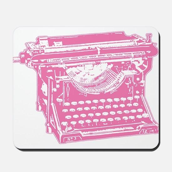 Pink Typewriter Mousepad