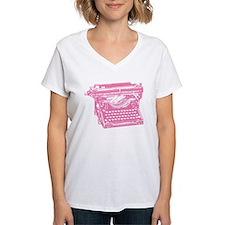 Pink Typewriter Shirt